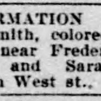 Pearl Smith searching for John Smith and his daughters Or and Sarah Smith