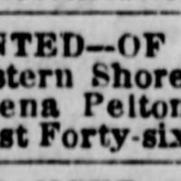 Betsy Dennis, New York, NY, searching for her brother