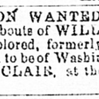 William Clair searching for William Bell or Robert Bell