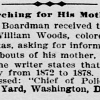 William Woods searching for his mother