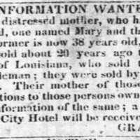 Gracy Boyd searching for her daughters Mary Boyd and Peggy Boyd