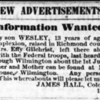 James Hall searching for son Wesley